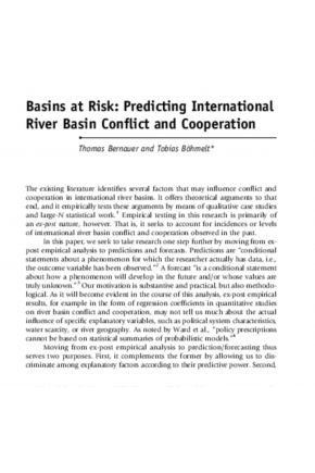 Predicting International River Basin Conflict and Cooperation
