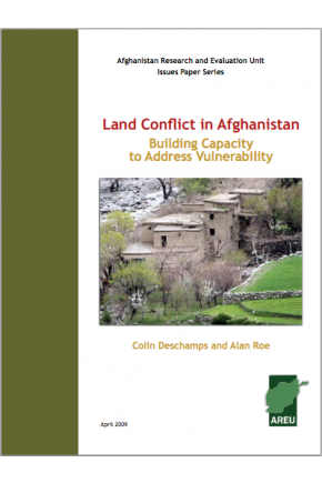 Land Conflict in Afghanistan: Building Capacity to Address Vulnerability