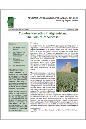 Counter-Narcotics in Afghanistan: The Failure of Success?