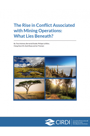 The Rise in Conflict Associated with Mining Operations: What Lies Beneath?