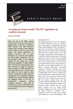 Leaving the Beaten Track? The EU Regulation on Conflict Minerals