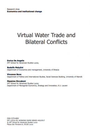 Virtual Water Trade and Bilateral Conflicts