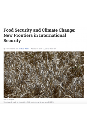 Food Security and Climate Change: New Frontiers in International Security