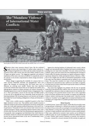 "The ""Mundane Violence"" of International Water Conflicts"