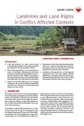 Landmines and Land Rights in Conflict Affected Contexts