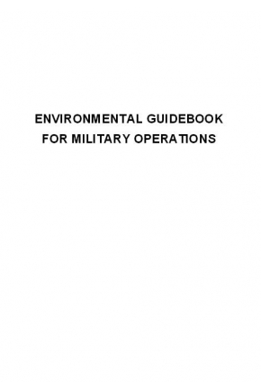 Environmental Guidebook on Military Operations