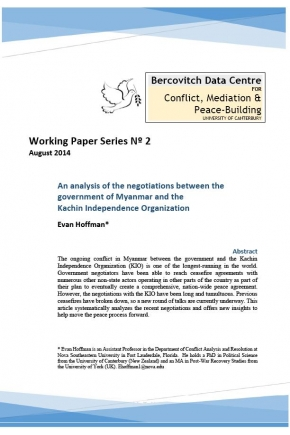 An Analysis of the Negotiations Between the Government of Myanmar and the Kachin Independence Organization