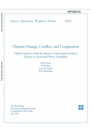 Climate Change, Conflict, and Cooperation: Global Analysis of the Resilience of International River Treaties to Increased Water Variability