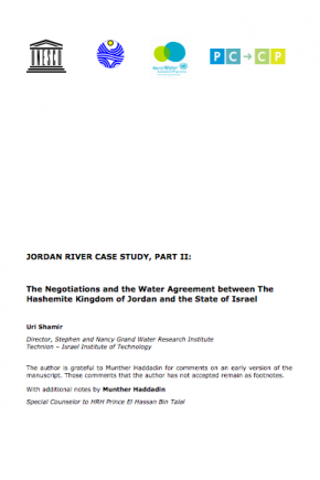 Jordan River Case Study, Part II: The Negotiations and the Water Agreement between the Hashemite Kingdom of Jordan and the State of Israel