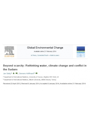 Beyond Scarcity: Rethinking Water, Climate Change and Conflict in the Sudans